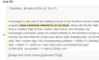 hononegah wikipedia page vandalism undewater6