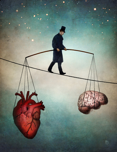balance heart and brain