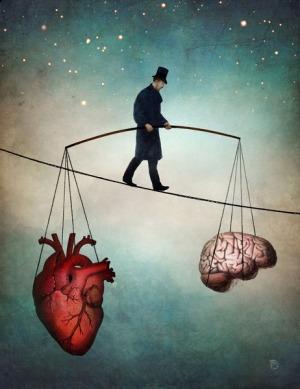 balance heart and brain